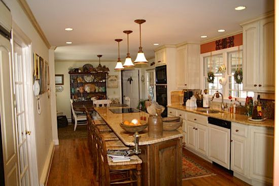 Hahn Appliance for a Traditional Kitchen with a White Walls and Kitchens by Hahn Construction