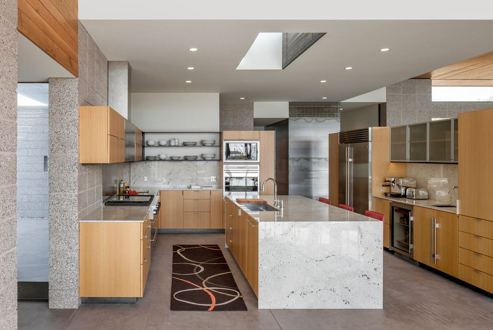 Hahn Appliance Tulsa for a Modern Kitchen with a Open Shelves and Hahn Egeland Residence by the Construction Zone, Ltd.