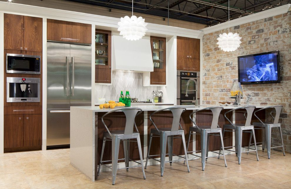 Hahn Appliances for a Transitional Kitchen with a Built in Coffee Maker and Showroom at Hahn Appliance by Edmond Kitchen & Bath Llc