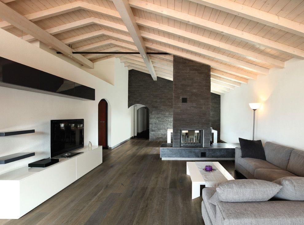Hallmark Flooring for a Contemporary Living Room with a Hand Applied and Del Mar Alta Vista Hardwood Flooring Collection From Hallmark Floors Inc by Hallmark Floors