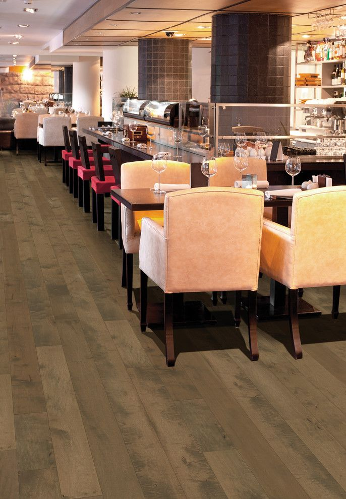 Hallmark Hardwoods for a Transitional Spaces with a Restaurant Flooring and Moderno Commercial Collection Under Hallmark Hardwoods by Hallmark Floors by Hallmark Floors