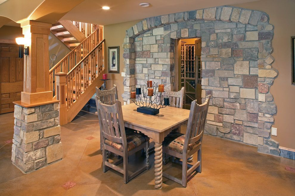 Halquist Stone for a Traditional Wine Cellar with a Halquist Stone and Chateau Buff by Halquist Stone