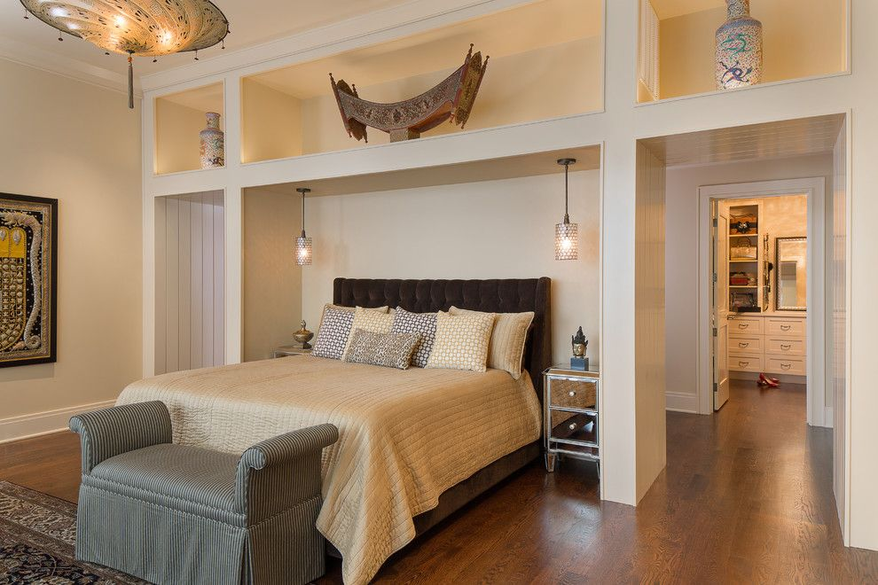 Hammary for a Asian Bedroom with a Striped Bench and Asian Bedroom by Vgarchitect.com