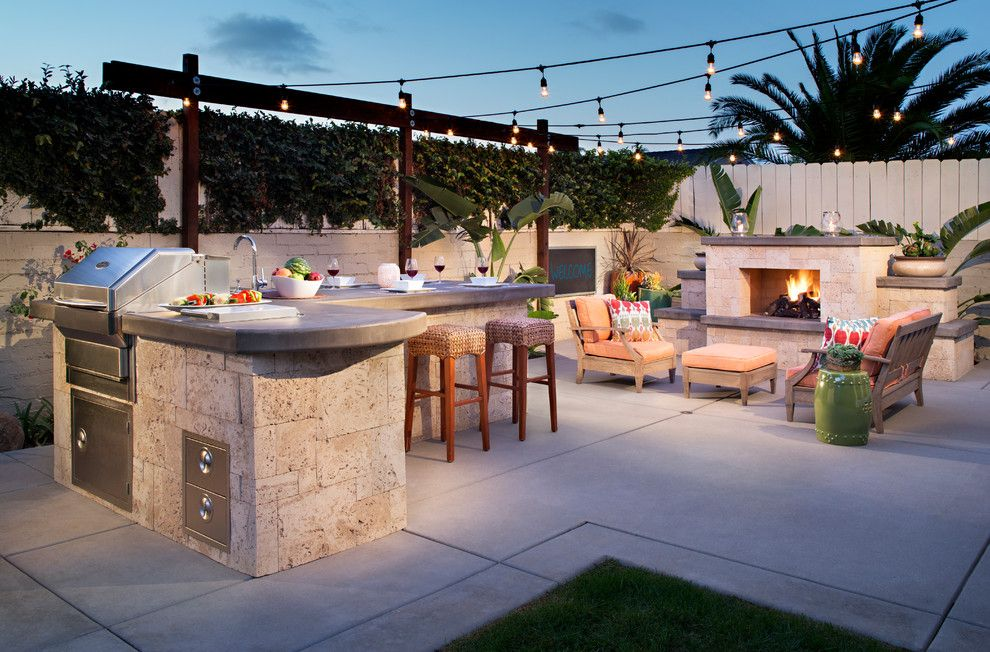 Hammary for a Contemporary Patio with a Outdoor Fireplace and Maruccia Residence by Promised Path Landscaping Inc