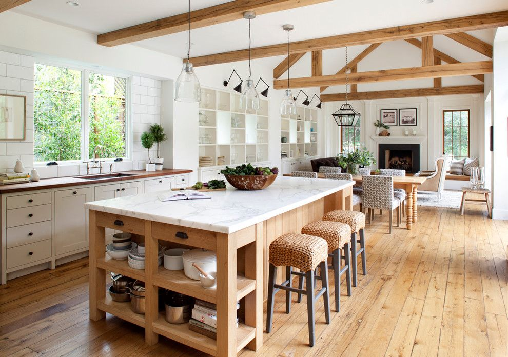 Hammary for a Farmhouse Kitchen with a Window and Mill Valley by Ken Linsteadt Architects
