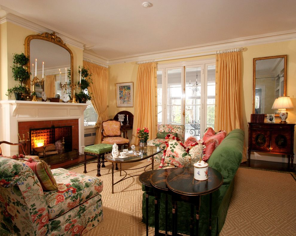 Hammary for a Traditional Living Room with a Throw Pillows and Classically Designed Living Room by J. Stephens Interiors