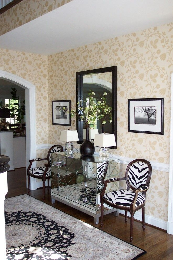 Hammary for a Victorian Entry with a Wallcoverings and Subtle Glamor by Ben Dial