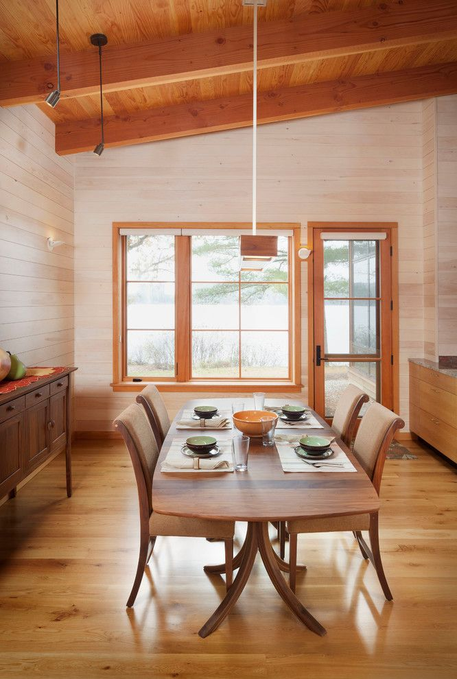 Hancock Lumber for a Rustic Dining Room with a Roller Shades and Windows and Doors by Home Again by Hancock Lumber