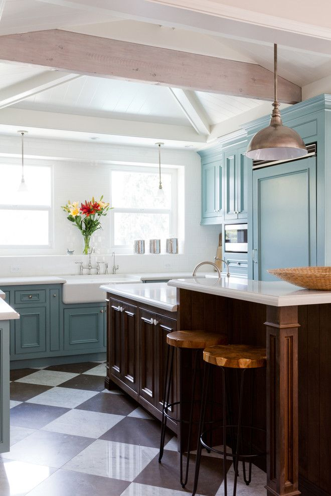 Handsome Cabinets for a Traditional Kitchen with a Eclectic and Franklin Hills by Taylor Jacobson Interior Design