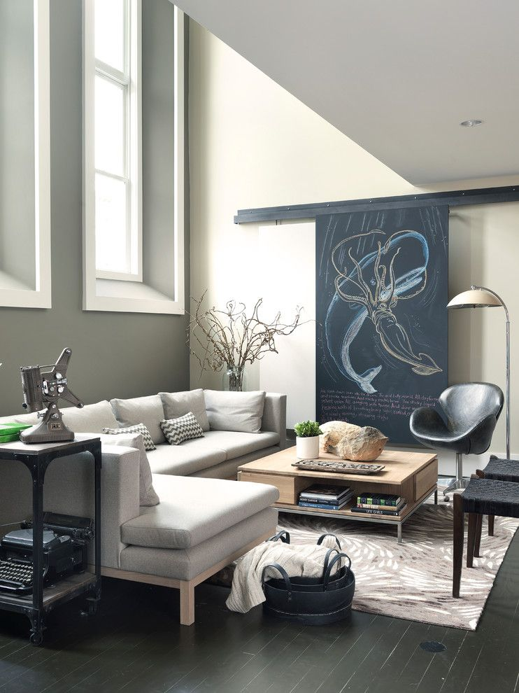 Hanks Furniture for a Contemporary Living Room with a Black Basket and Modern Loft by Koo De  Kir
