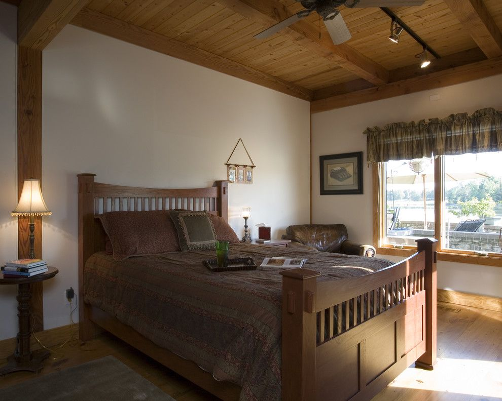 Hanks Furniture for a Traditional Bedroom with a Craftsman and Jonesboro Area Custom Home by Habitat Post & Beam, Inc.
