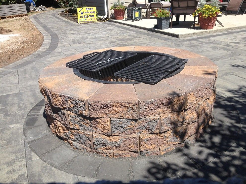 Hanover Pavers for a  Patio with a Hanover Pavers and Backyard Patio Hardscape Ideas Hanover PA by Ryan's Landscaping Hanover, Pa Patios & Walls