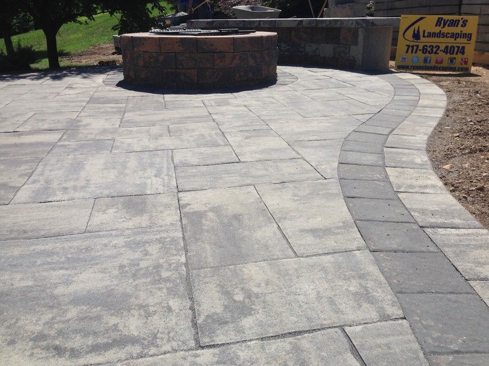 Hanover Pavers for a  Patio with a Hardscape and Backyard Patio Hardscape Ideas Hanover Pa by Ryan's Landscaping Hanover, Pa Patios & Walls