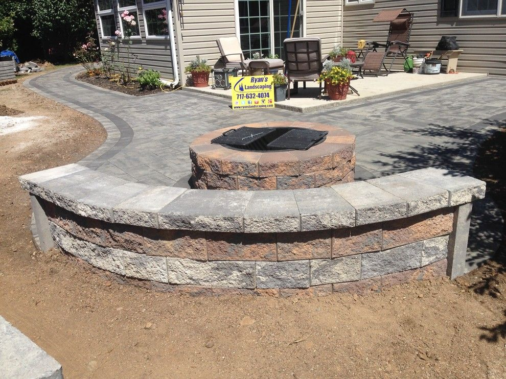 Hanover Pavers for a  Patio with a Pavers and Backyard Patio Hardscape Ideas Hanover Pa by Ryan's Landscaping Hanover, Pa Patios & Walls