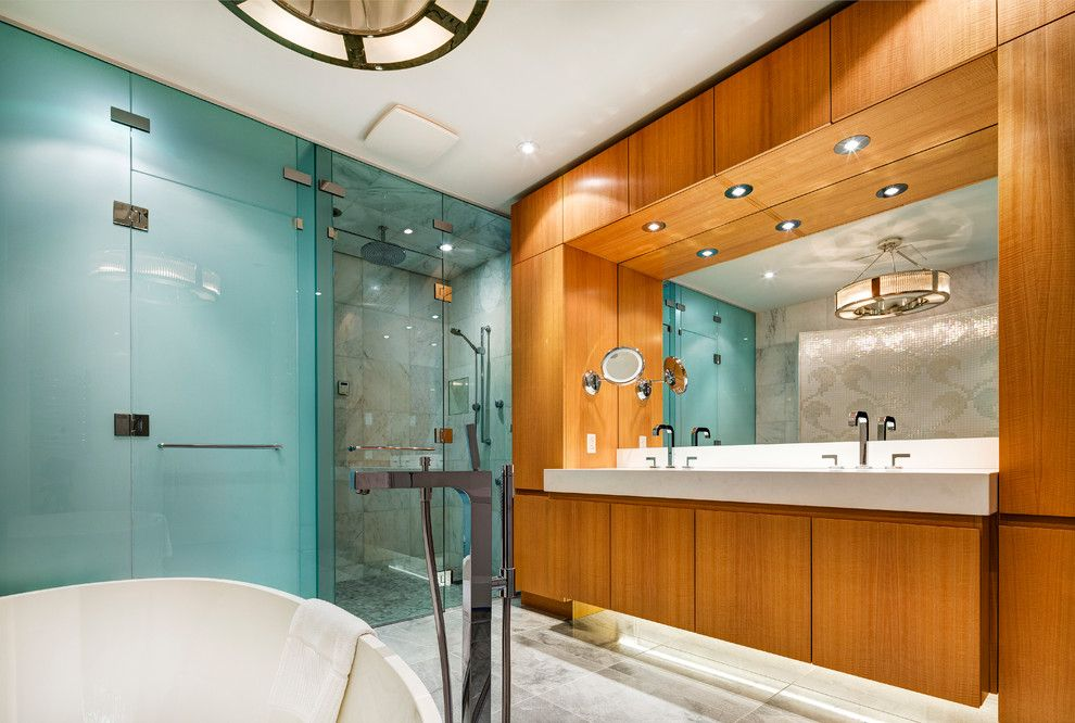 Hansgrohe Usa for a Contemporary Bathroom with a Bathroom and Ritz Carlton Montreal by Hansgrohe USA