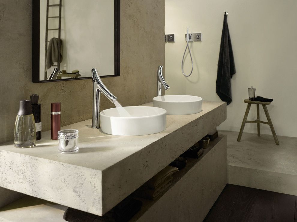 Hansgrohe Usa for a Contemporary Bathroom with a Starck and Axor Starck Organic by Hansgrohe Usa