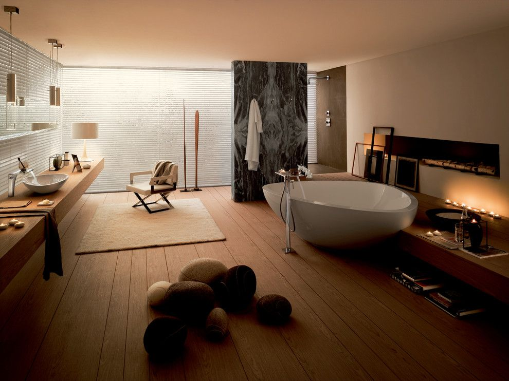 Hansgrohe Usa for a Modern Bathroom with a Massaud and Axor Massaud by Hansgrohe Usa