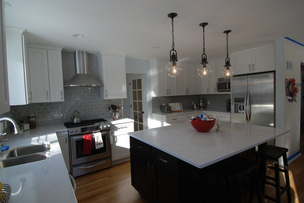 Hanstone for a Transitional Spaces with a Marble and Transitional Open Kitchen by North Shore Kitchen & Bath