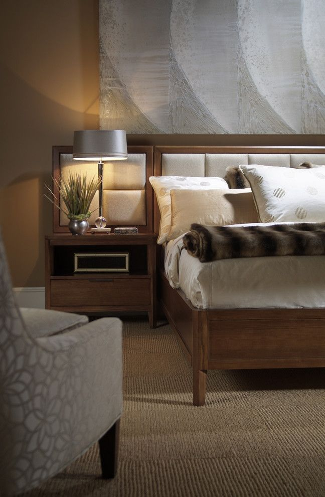 Harden Furniture for a Contemporary Bedroom with a Aurora and Upholstered Beds by Almira Fine Furniture
