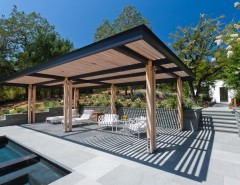 Hardware Hut for a Contemporary Patio with a Concrete and Calistoga Residence by Strening Architects