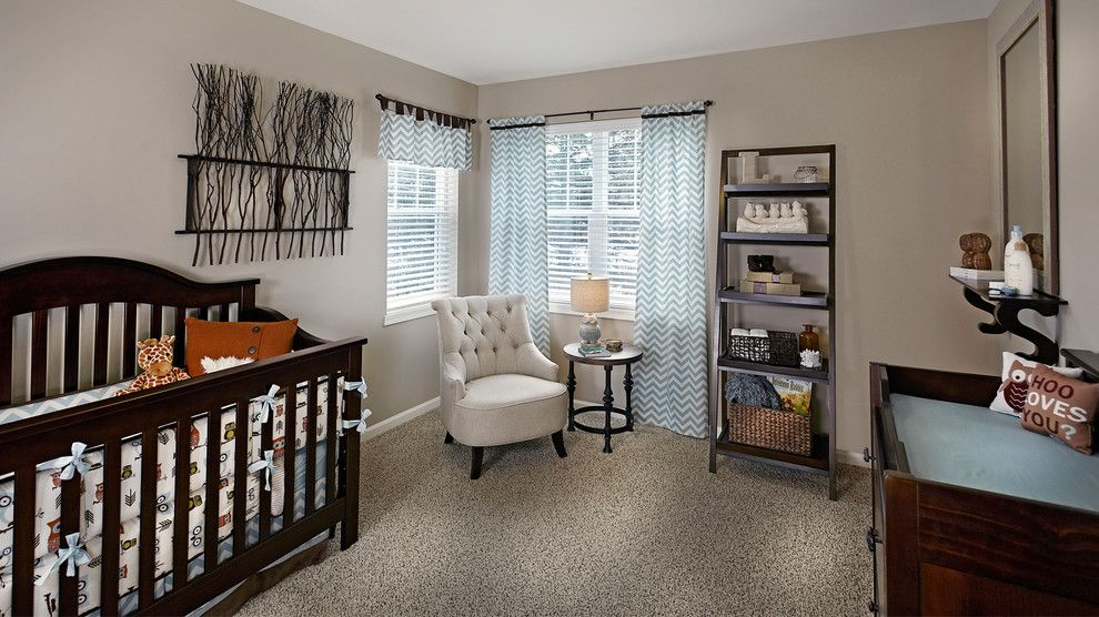 Haverty Furniture for a Traditional Nursery with a Nursery and the Sawyer by Veridian Homes