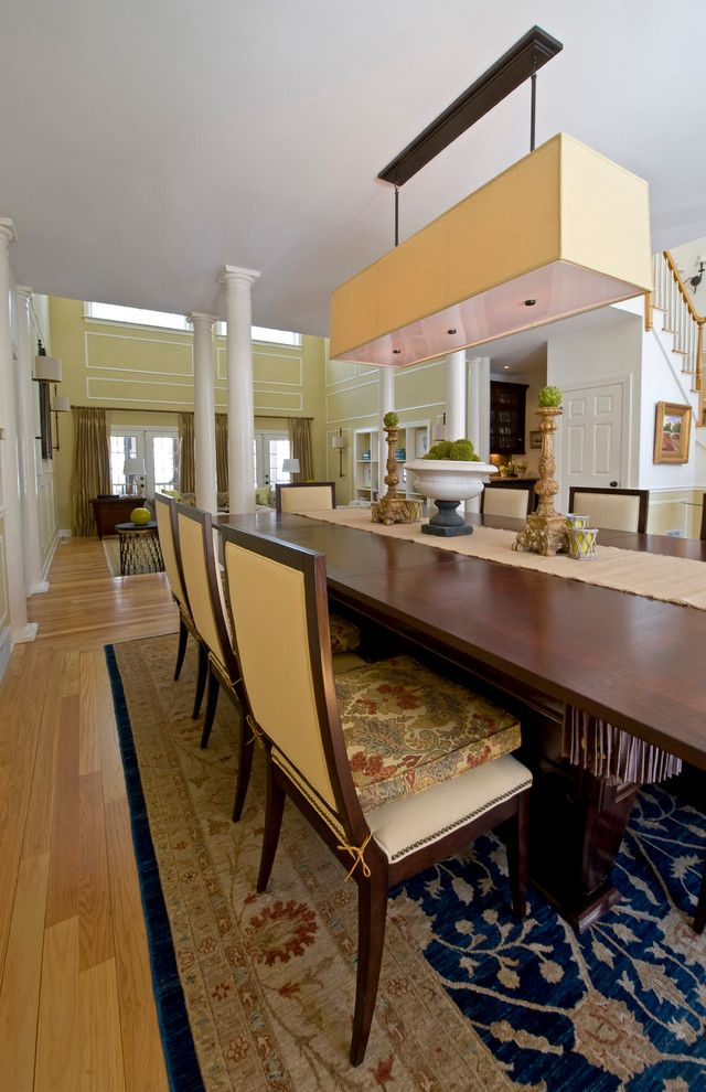Haverty Furniture for a Transitional Kitchen with a Pool Table and Custom Designed Furniture by K.d. Ellis Interiors by K. D. Ellis Interiors