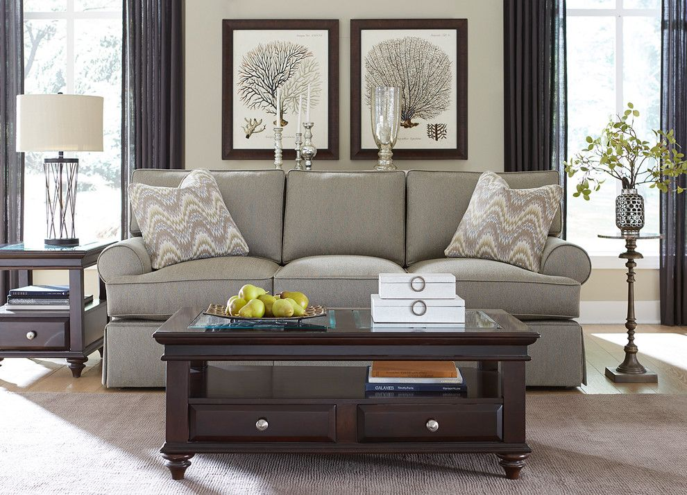 Havertys Furniture for a Transitional Living Room with a Glass Top Coffee Table and Havertys Furniture by Havertys Furniture