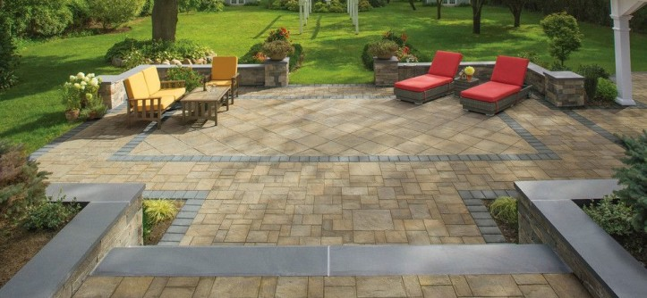 Hbo2go for a Contemporary Spaces with a Stone Patio and Cambridge Pavingstones with ArmorTec by Cambridge Pavingstones with ArmorTec