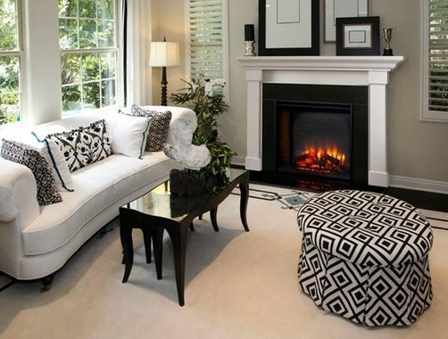 Heatilator for a Modern Living Room with a Gas Fireplaces and Simplifire Electric Fireplace Built in Series by Heatilator Fireplaces