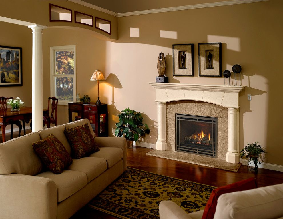 Heatilator for a Transitional Living Room with a Gas Fireplaces and Heatilator Caliber Nxt   36