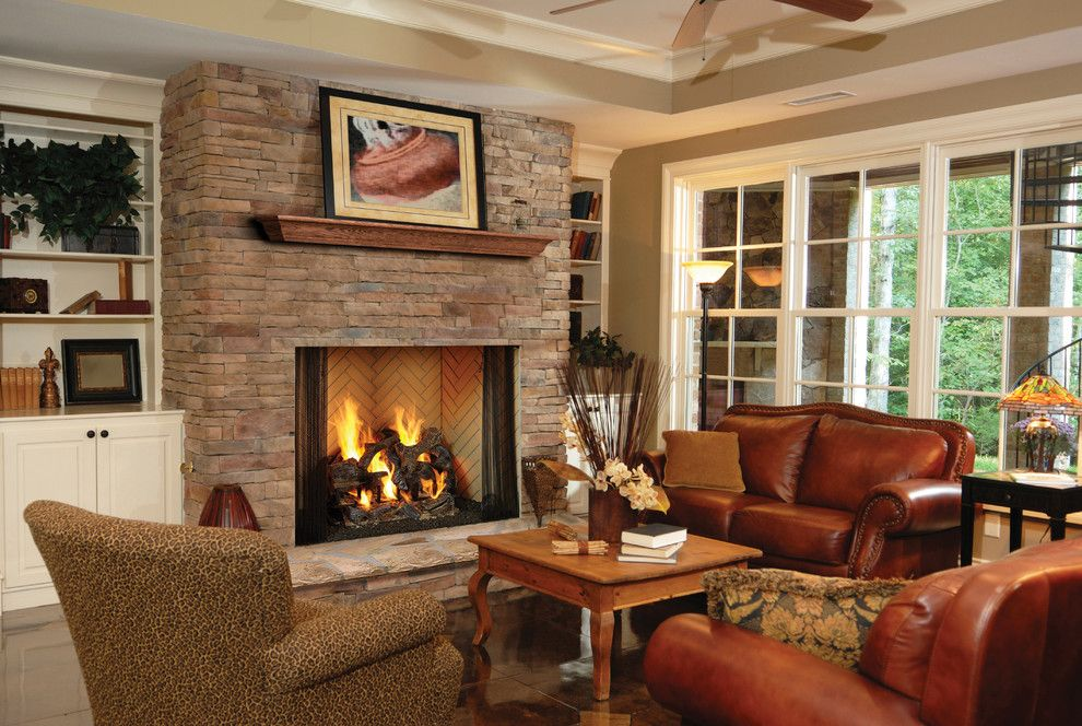 Heatilator for a Transitional Living Room with a Wood Burning Fireplace and Heatilator Birmingham   50