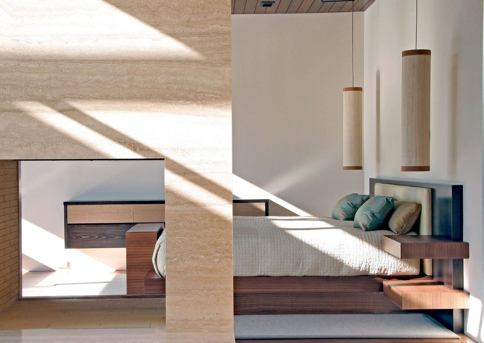 Hefner Furniture for a Modern Bedroom with a Platform Bed and William Hefner Architecture Interiors & Landscape by Studio William Hefner