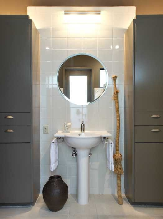 Hemispheres Furniture for a Modern Bathroom with a Modern and Private Residence by Hemisphere Furniture