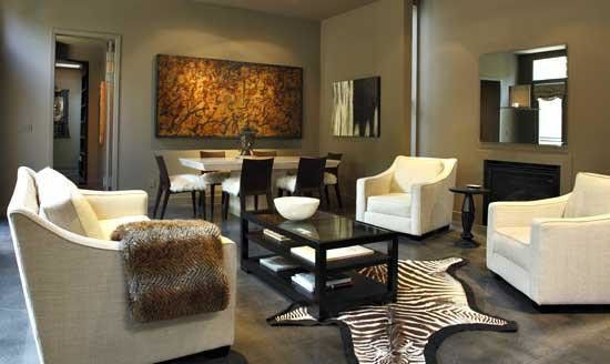 Hemispheres Furniture for a Modern Living Room with a Modern and Private Residence by Hemisphere Furniture
