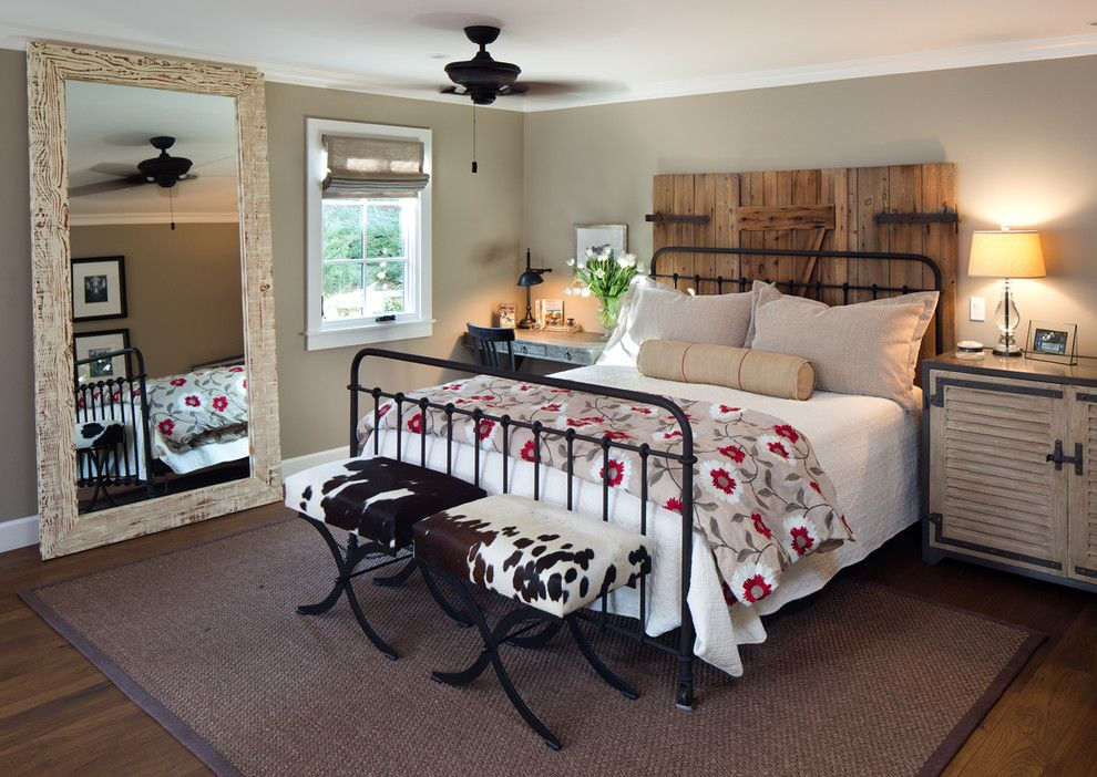 Hemnes Bed Frame for a Farmhouse Bedroom with a Wood Flooring and Coastal Ranch by Anne Sneed Architectural Interiors