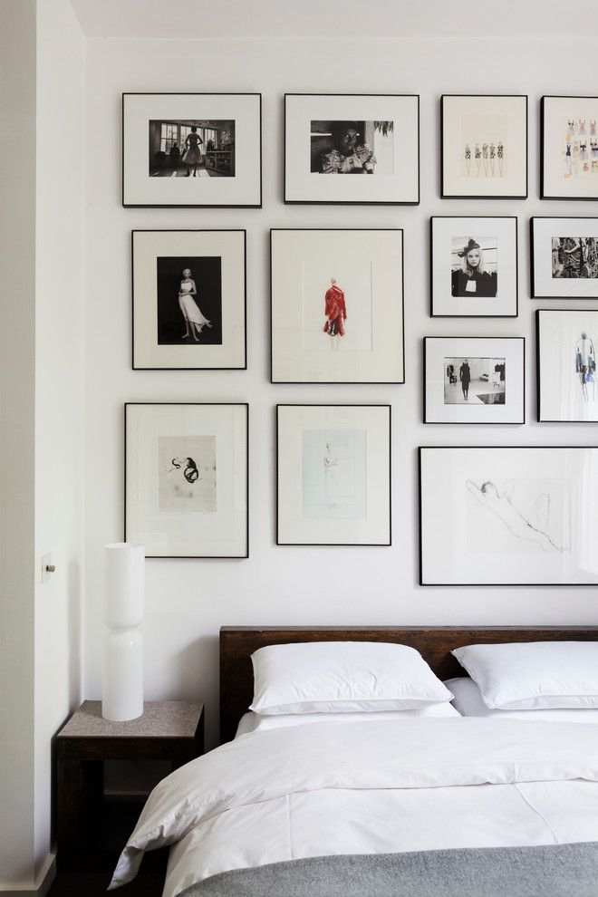 Hemnes Bed Frame for a Scandinavian Bedroom with a White Bedding and St. Michael's Road by Mb Design Studio