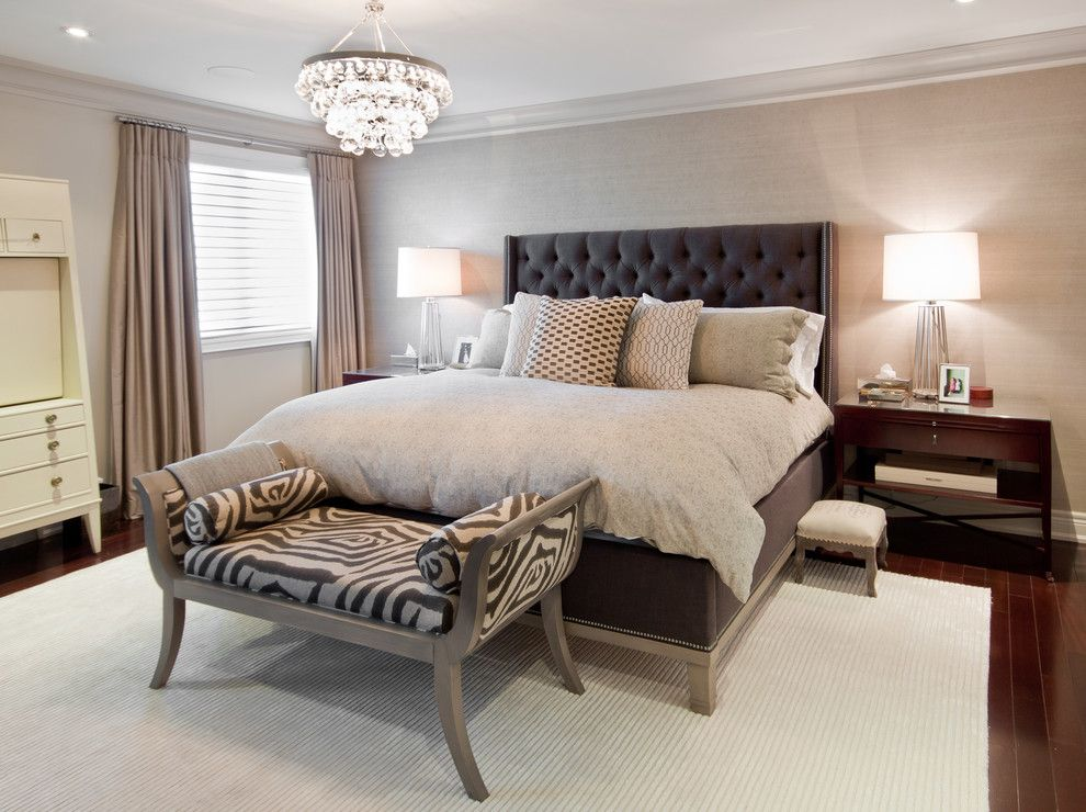Hemnes Bed Frame for a Transitional Bedroom with a Ochre Pear and Master Bedroom by Shirley Meisels