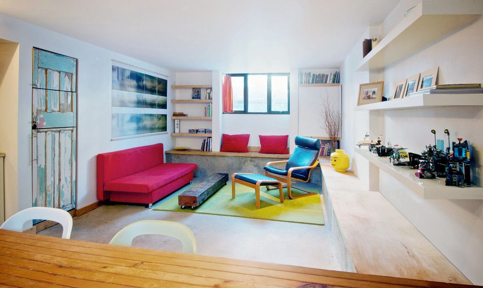 Hemnes Ikea for a Contemporary Basement with a Basement Apartment and My Houzz: Creative Moves Turn a Toronto Basement Into a Stylish Rental by Andrew Snow Photography