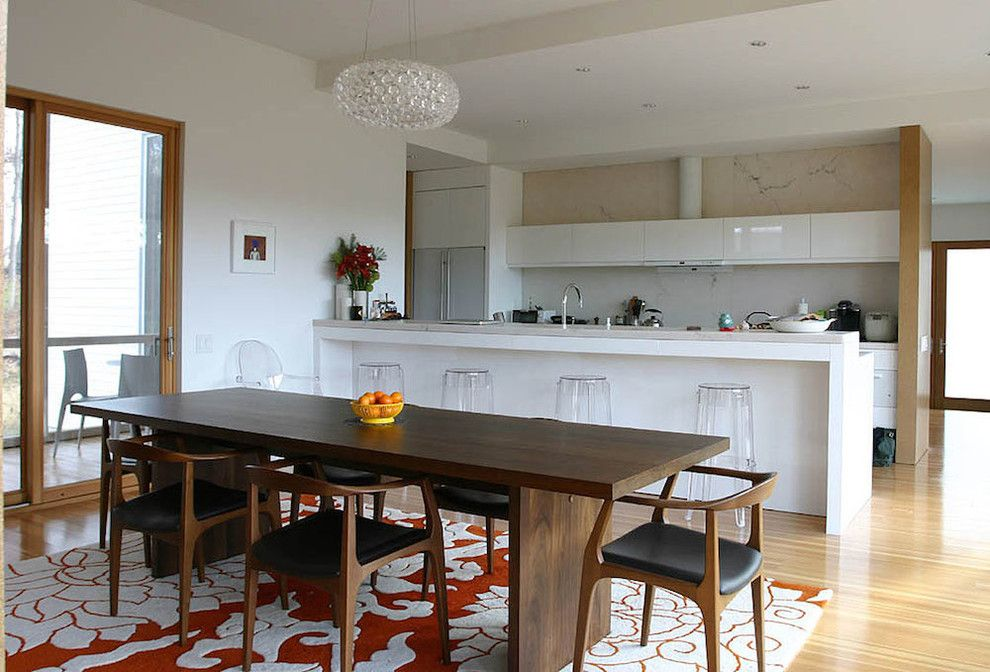 Hemnes Ikea for a Modern Kitchen with a Sliding Glass Door and Modern Kitchen by Leap Architecture