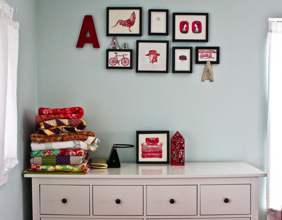 Hemnes Ikea for a Transitional Bedroom with a Transitional and My Houzz: A Crafty Baker Gets Creative with a Small Space and Small Budget by Caela McKeever