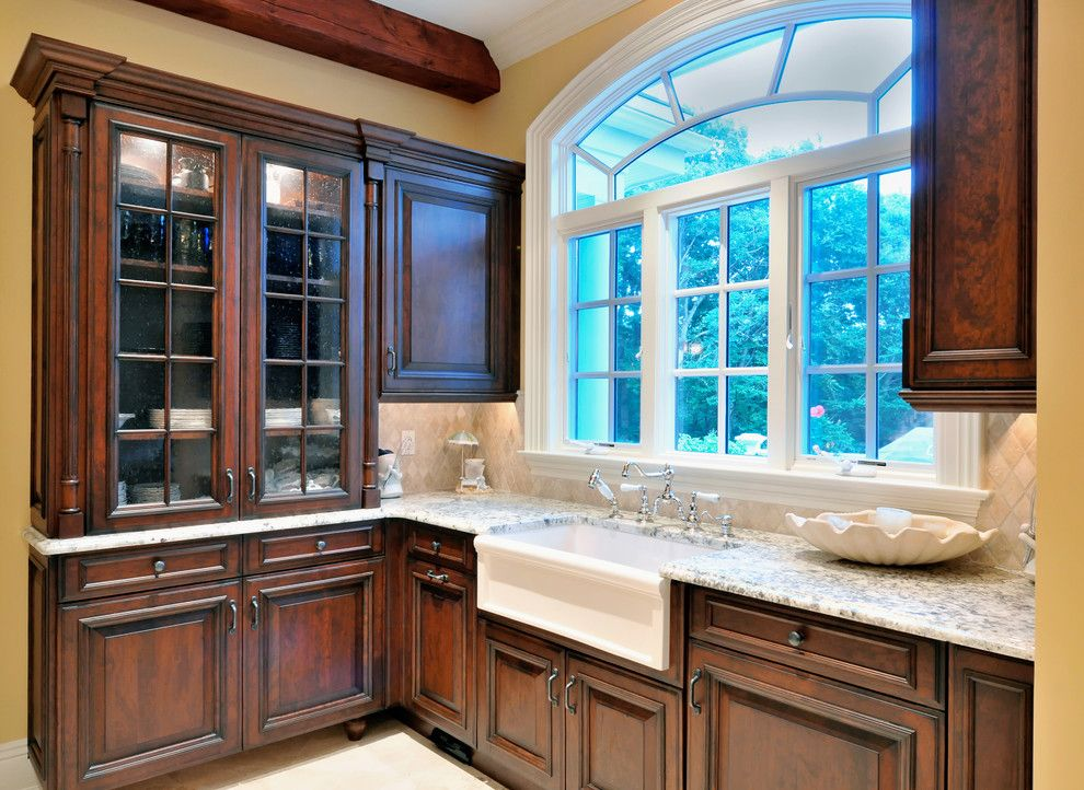 Herbeau for a Traditional Kitchen with a Apron Front Sink and Greenlawn, Ny by Artista Kitchen & Bath Design