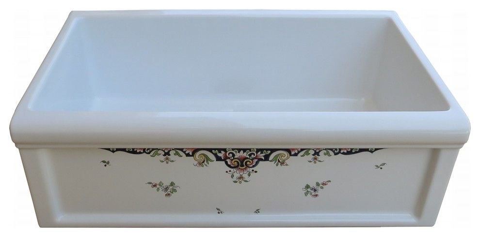herbeau for a traditional kitchen with a french country and herbeau fireclay farmhouse sink in rouen