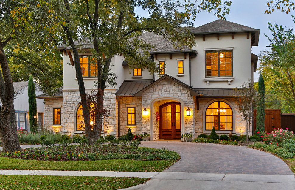 Heritage Homes Fargo for a Mediterranean Exterior with a Composition Shingle and Southwestern by Veranda Fine Homes