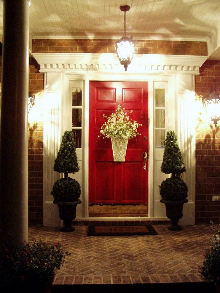 Heritage Homes Fargo for a Traditional Entry with a Outdoor Lighting and Traditional Entry by Betweennapsontheporch.blogspot.com