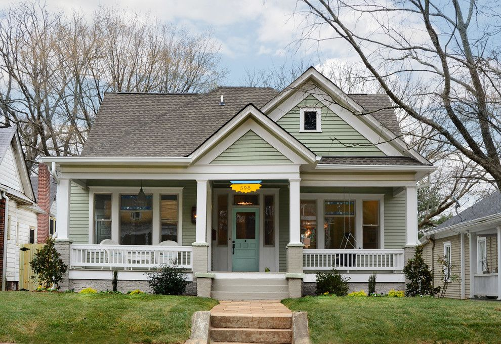 Heritage Homes Fargo for a Traditional Exterior with a White Pillar and Queen Anne Bungalow Resurrection by Carl Mattison Design
