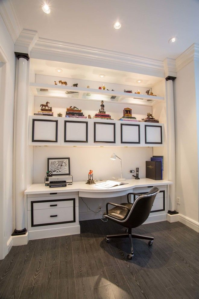 Herman Miller Outlet for a Contemporary Home Office with a Computer Desk and Porto Vita by Fein Zalkin Interiors