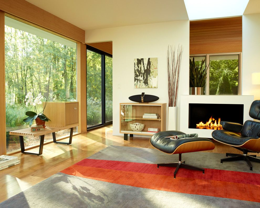 Herman Miller Outlet for a Contemporary Living Room with a George Nelson and Herman Miller Eames Lounge Chair Living Room by Herman Miller