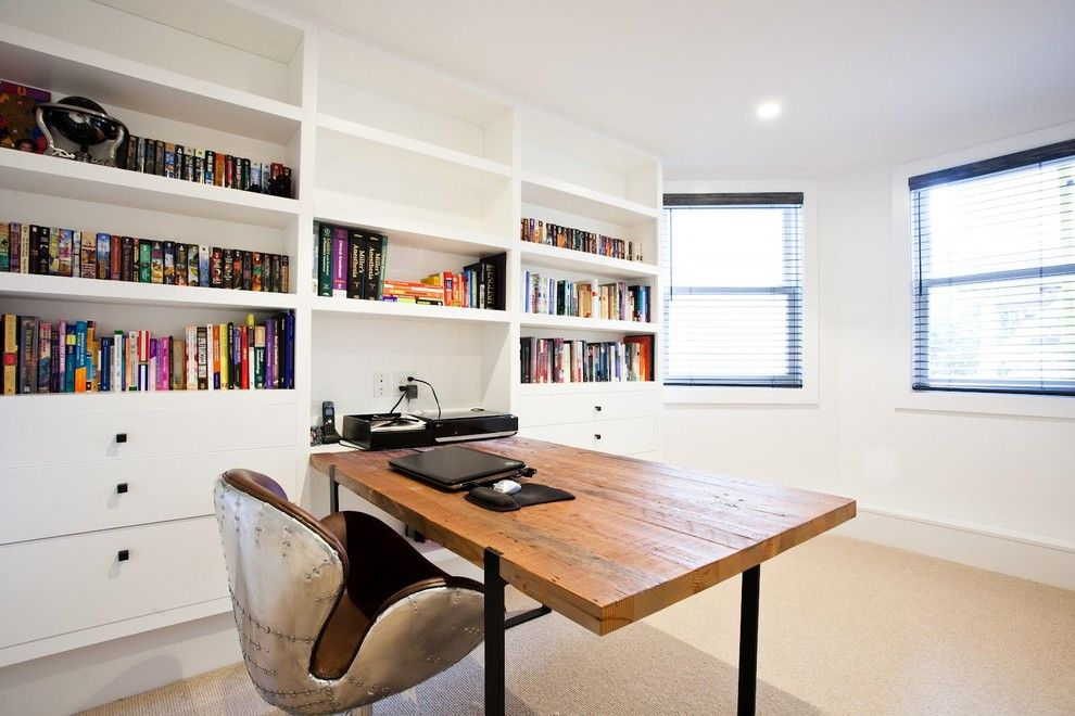 Herman Miller Outlet for a Modern Home Office with a Drawers and Noe Valley Basement Remodel by Mason Miller Architect
