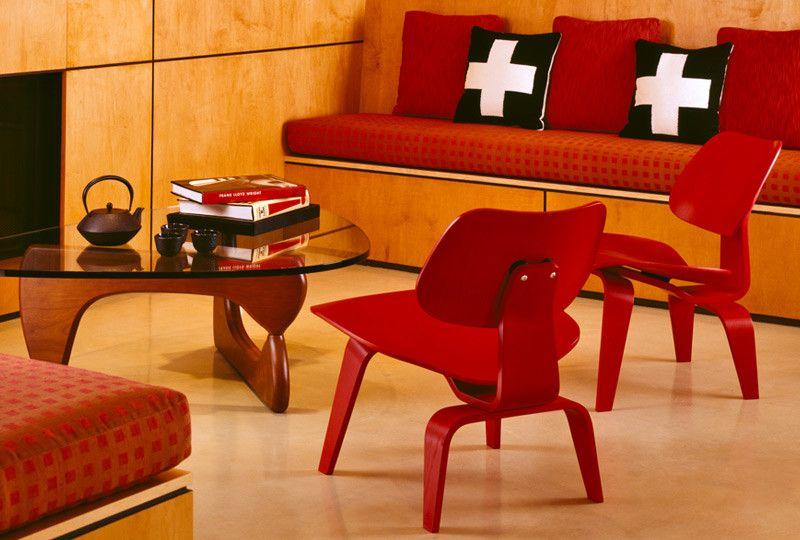 Herman Miller Outlet for a Modern Living Room with a Herman Miller Noguchi Table and Herman Miller Eames Lounge Chair with Noguchi Table by Up Interiors