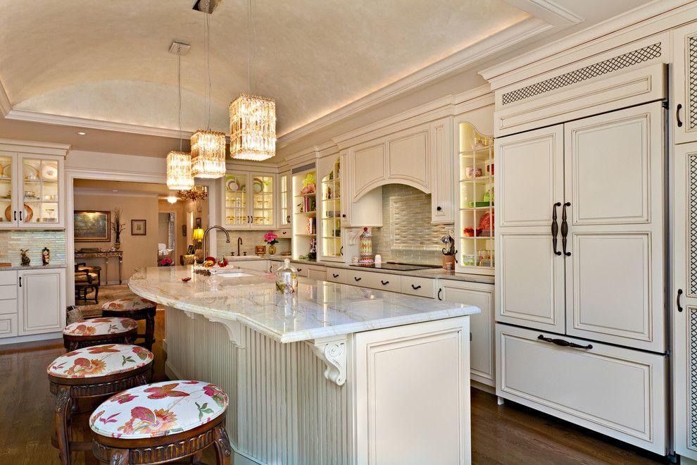Hermitage Lighting for a Traditional Kitchen with a Island and Kitchen by Hermitage Kitchen Design Gallery